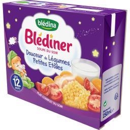 Blédîner - Soupe du soir douceur légumes/petites éto...