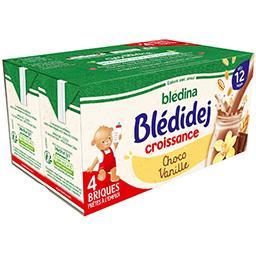 Blédidej Croissance - Céréales lactées choco vanille...