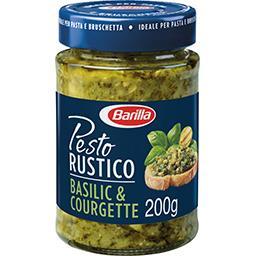 Barilla Pesto Rustico basilic et courgettes le pot de 200 g