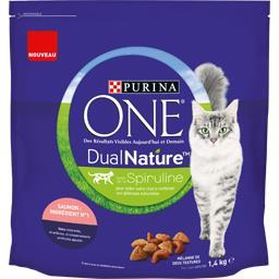 One - Croquettes Dual Nature au saumon pour chats ad...