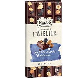 Les Recettes de L'Atelier - Chocolat noir myrtilles ...