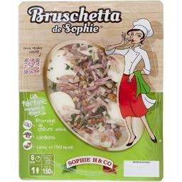 Bruschetta chèvre lardon