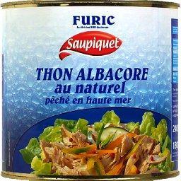Thon Albacore au naturel pêché en haute mer
