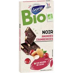 Chocolat noir amandes et Cranberries BIO