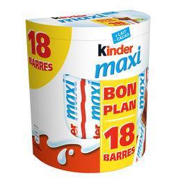 Maxi - Barres chocolat au lait fourrées lait