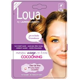 Masque visage en tissus cocooning