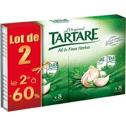 Tartare Fromage L'Original ail & fines herbes les 2X8 portions de 16 g