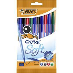 Stylo-bille Cristal Soft assortis