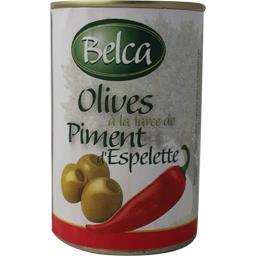 Belca Olives à la pâte de piment d'Espelette la boite de 120 g net égoutté