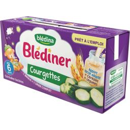 Blédîner - Céréales lactées aux légumes, courgettes,...