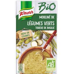 Mouliné de légumes verts touche de basilic BIO