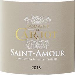 Saint Amour Domaine le Carjot vin Rouge 2017