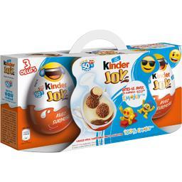 Kinder Joy - Crème dessert lait et cacao avec gaufrettes en... la boite de 3 pièces - 60 g