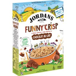 Jordans Funny Crisp - Céréales complètes chocolat au lait