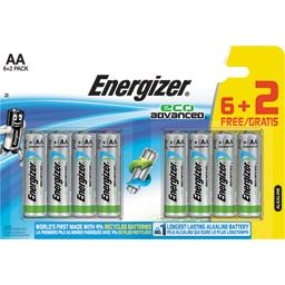 Energizer Eco Advanced - Piles alcalines AAA LR03 1,5V le lot de 6 piles