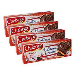 Chabrior Biscuits Tableau d'Honneur chocolat noir le lot de 3 paquets