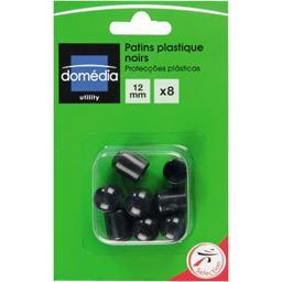 Patins plastique noirs 12mm
