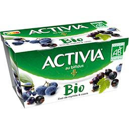 Activia - Lait fermenté duo de myrtille & cassis BIO
