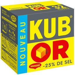 Maggi Bouillon Kub Or réduit en sel la boite de 32 cubes - 121,6 g