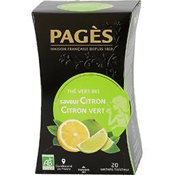 Thé vert citron citron vert BIO