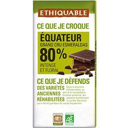 Ethiquable Chocolat noir 80% Equateur BIO