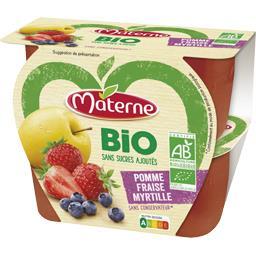 BIO - Spécialité de fruits pomme fraise myrtille BIO