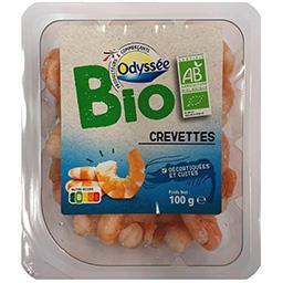 Crevettes cuites décortiquées BIO