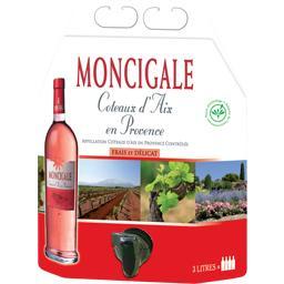 Côteaux d'aix en provence, vin rosé,Moncigale,la fontaine de 3 l