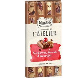 Les Recettes de L'Atelier - Chocolat lait cranberrie...