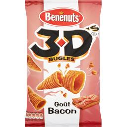3D Bugles - Biscuits apéritif goût bacon