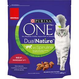 One - Croquettes Dual Nature au bœuf pour chats adul...