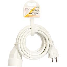 Prolongateur électrique 3G1,5mm 4m 16A, blanc
