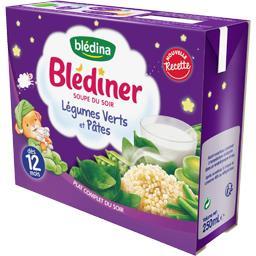 Blédîner - Soupe du soir légumes verts et pâtes, dès...