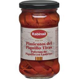 Rabinad Poivrons du Piquillo en lanières le bocal de 220 g net égoutté