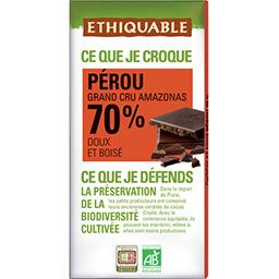 Chocolat noir 70% Pérou BIO