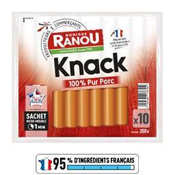 Saucisses Knack pur porc