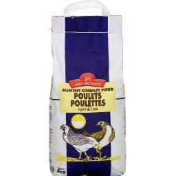 Aliment complet pour poulets, poulettes, à partir de...