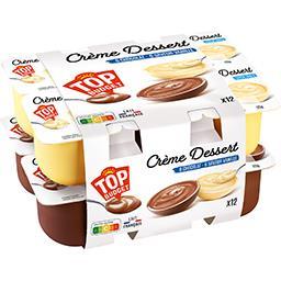 Crèmes dessert saveurs chocolat/vanille