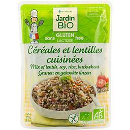 Céréales et lentilles cuisinées BIO