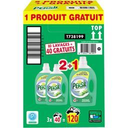 Persil Lessive au savon de Marseille fraîcheur eucalyptus les 2 flacons de 2 l