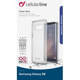 Coque silicone bi matière translucide pour Samsung Galaxy S8