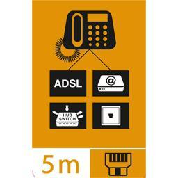 Câble ADSL avec connecteurs RJ11 mâles