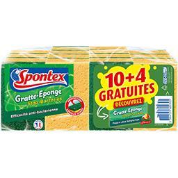 Spontex Assortiment Gratte-éponge Stop graisse/Stop bactérie... le éponges
