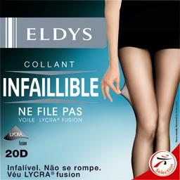 Collant perfect infaillible noir voile lycra 20D -  T6