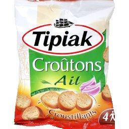 Croûtons à l'ail croustillants,TIPIAK,le sachet de 90g