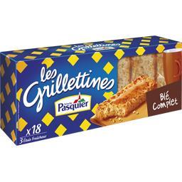 Les Grilletines - Petites tartines au blé complet