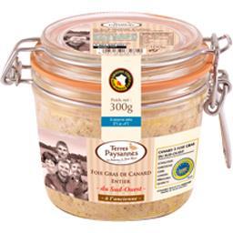 Terres Paysannes Foie gras de canard entier du Sud-Ouest le bocal de 300 g