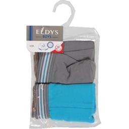 Boxers gris/bleu pocket 6/8 ans