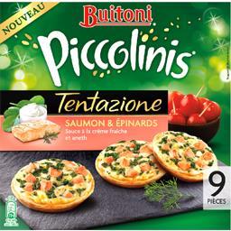 Piccolinis - Mini pizzas Tentazione saumon et épinar...