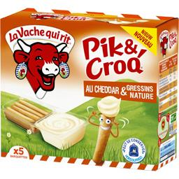 Pik & Croq' - Fromage au cheddar & gressins nature